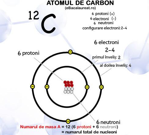 structura atomului de carbon. Ghid pentru bacalaureat